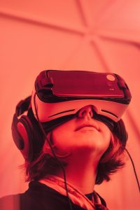 Image of girl wearing VR goggles